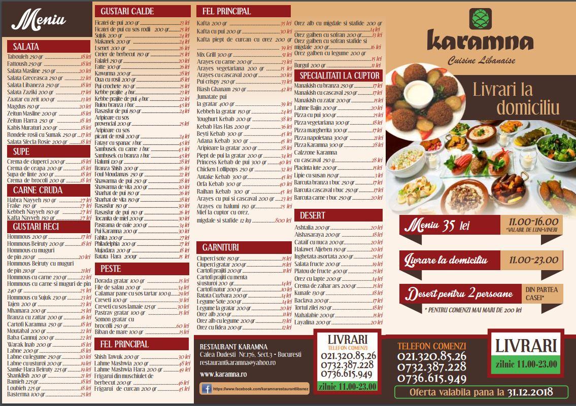 oferta restaurant karamna